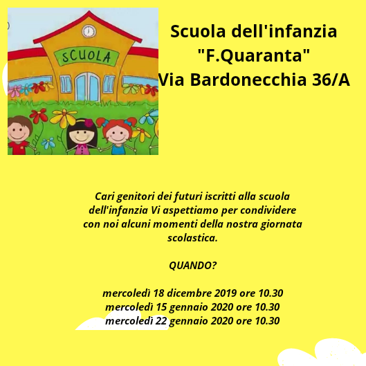 open day scuola inf 2019